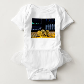 Bitcoin trio circuit market charts clean baby bodysuit