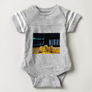 Bitcoin trio circuit market charts clean baby bodysuit