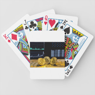 Bitcoin trio circuit market charts clean bicycle playing cards