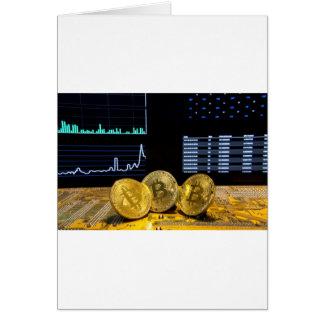 Bitcoin trio circuit market charts clean card