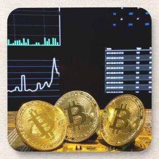 Bitcoin trio circuit market charts clean coaster