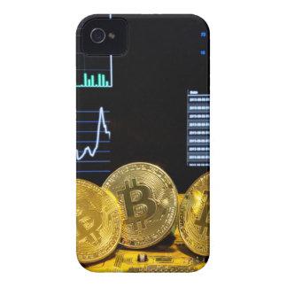 Bitcoin trio circuit market charts clean iPhone 4 Case-Mate case