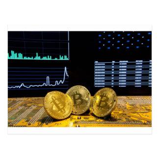 Bitcoin trio circuit market charts clean postcard