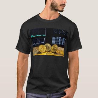 Bitcoin trio circuit market charts clean T-Shirt