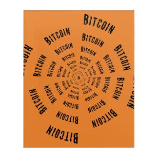 Bitcoin Tunnel Acrylic Print