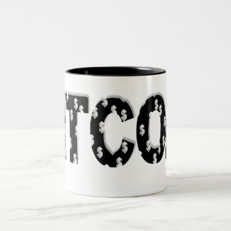 Bitcoin Two-Tone Coffee Mug