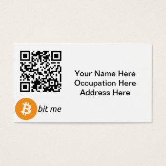 Bitcoin Wallet QR Code Business Cards