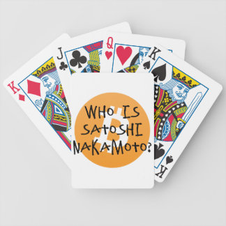 Bitcoin - Who is Satoshi Nakamoto? Bicycle Playing Cards