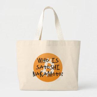 Bitcoin - Who is Satoshi Nakamoto? Large Tote Bag