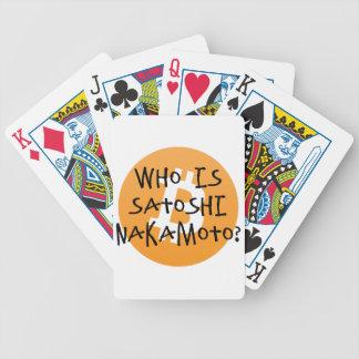 Bitcoin - Who is Satoshi Nakamoto? Poker Deck