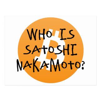 Bitcoin - Who is Satoshi Nakamoto? Postcard
