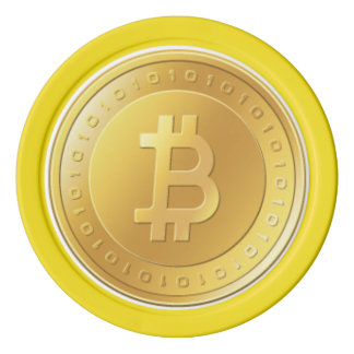 Bitcoin Yellow Poker Chips
