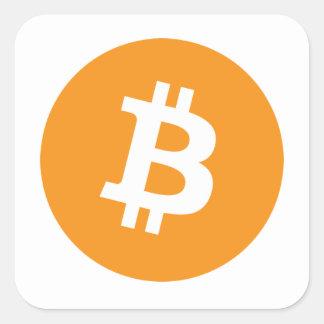 Bitcoins Square Sticker