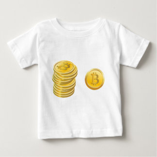 Bitcoins Stacked Baby T-Shirt