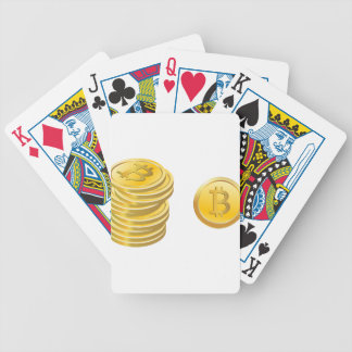 Bitcoins Stacked Bicycle Playing Cards