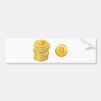 Bitcoins Stacked Bumper Sticker