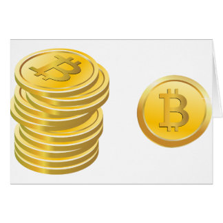 Bitcoins Stacked Card