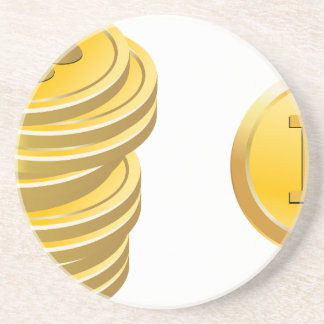 Bitcoins Stacked Coaster