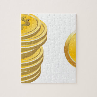 Bitcoins Stacked Jigsaw Puzzle