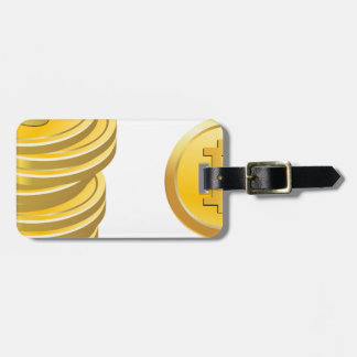 Bitcoins Stacked Luggage Tag