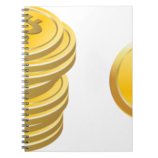 Bitcoins Stacked Notebook