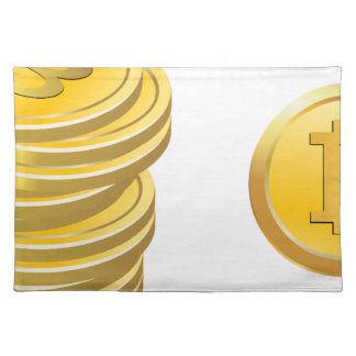 Bitcoins Stacked Placemat