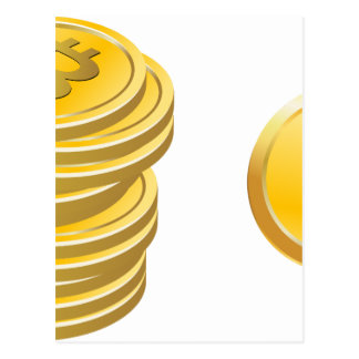 Bitcoins Stacked Postcard