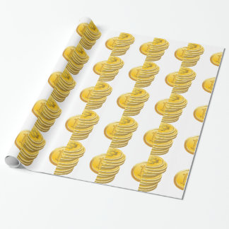 Bitcoins Stacked Wrapping Paper