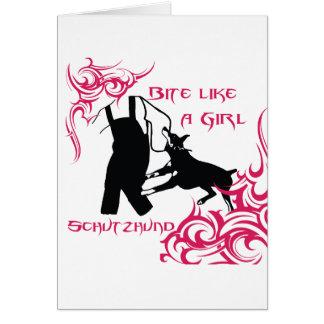 Bite Like a Girl Card