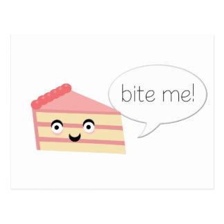 Bite Me Cake Postcard