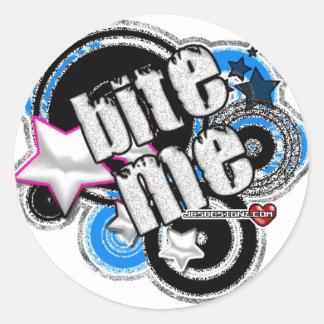 bite-me classic round sticker