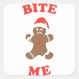 Bite Me Cookie Square Sticker