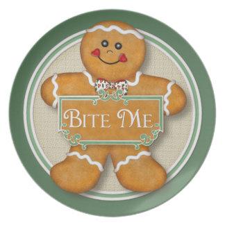 Bite Me Gingerbread Man Plate