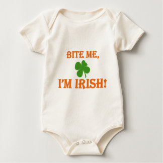 Bite Me I'm Irish Baby Bodysuit