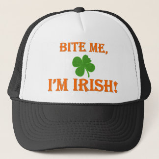 Bite Me I'm Irish Trucker Hat