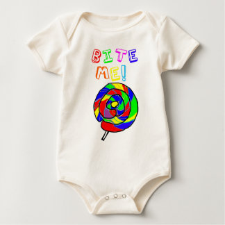 Bite Me Lollipop Baby Bodysuit