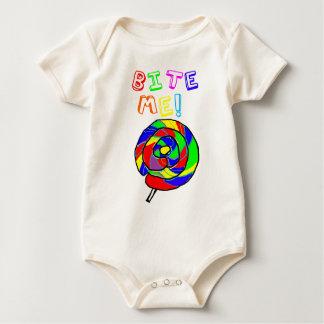 Bite Me Lollipop Baby Bodysuit