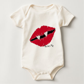 Bite Me Red Lips n Fangs Baby Bodysuit