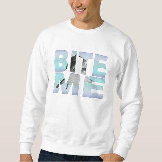 """""""Bite Me"""" Shark Photo Sweatshirt"""