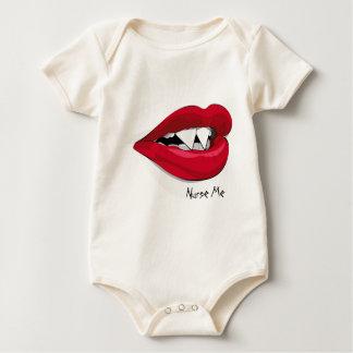 Bite Me Vampira Mouth Baby Bodysuit