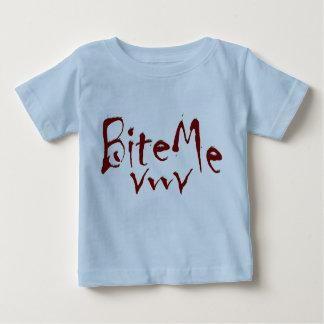 Bite Me Vampire Fangs Graphic Baby T-Shirt