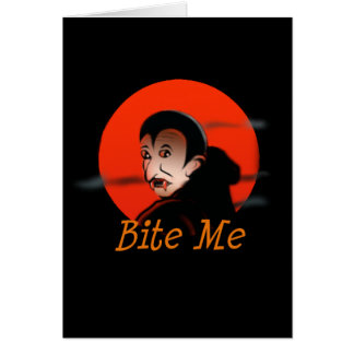 Bite Me Vampire Halloween Card