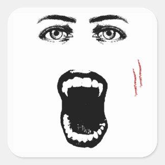 Bite Me Vampire Halloween Stickers