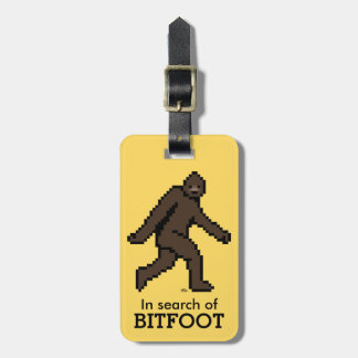 Bitfoot (the 8-bit Bigfoot) Luggage Tag