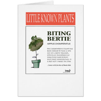 Biting Bertie - The Plant Series 101 Card