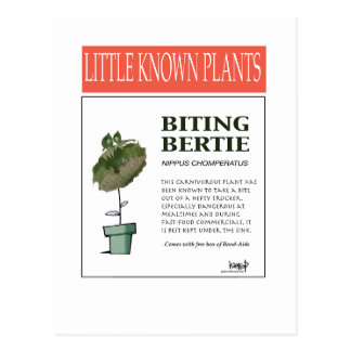 Biting Bertie - The Plant Series 101 Postcard