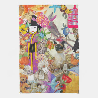 Bits and Bobs Collage 1 Kitchen Towel