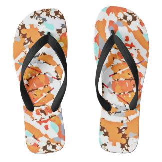 Bits and Pieces of Orange Flip Flops