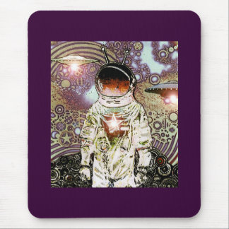Bits of Space - Astronaut -V- Mouse Pad