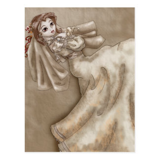 Bitten Bride Postcard